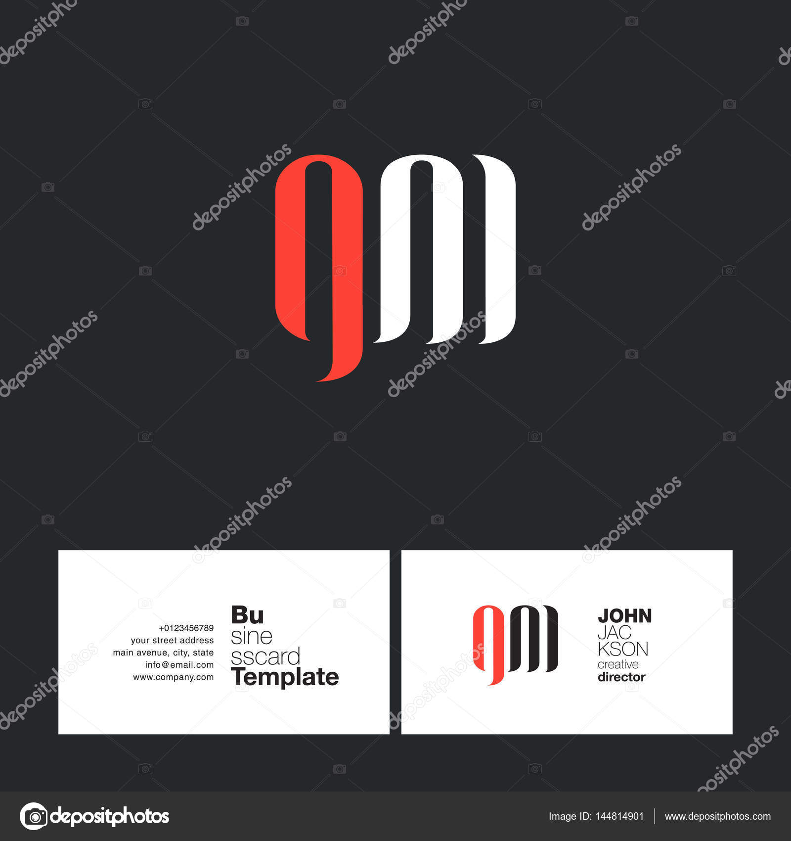 GM Letters Logo Business Card — Stock Vector © brainbistro #144814901