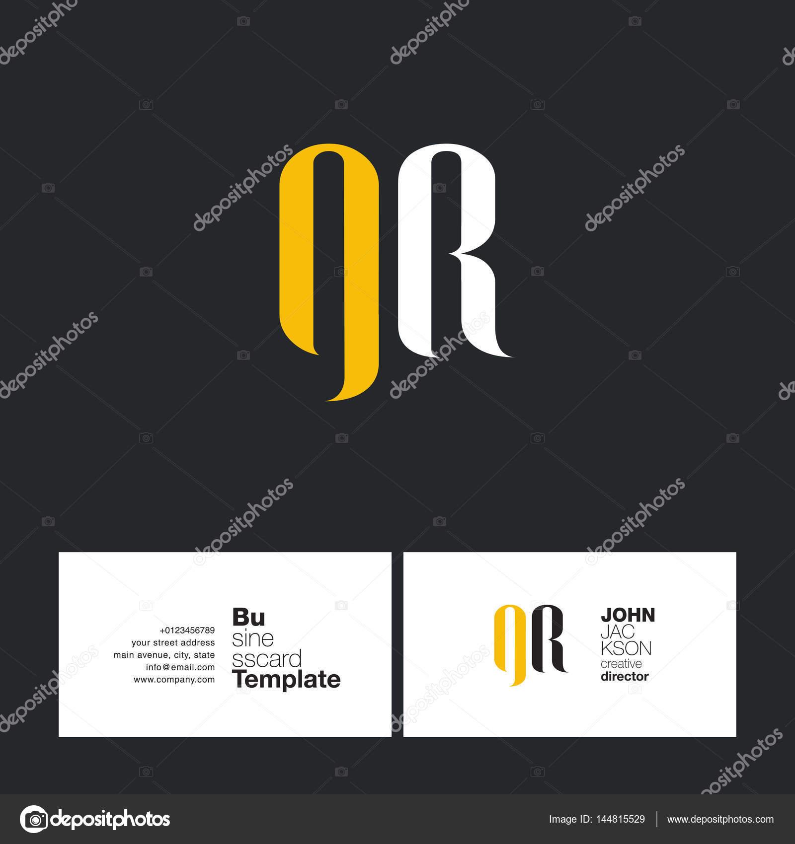 Carte De Visite Pour Le Logo Gr Lettres Illustration Stock
