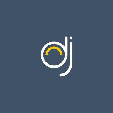round letter logo DJ