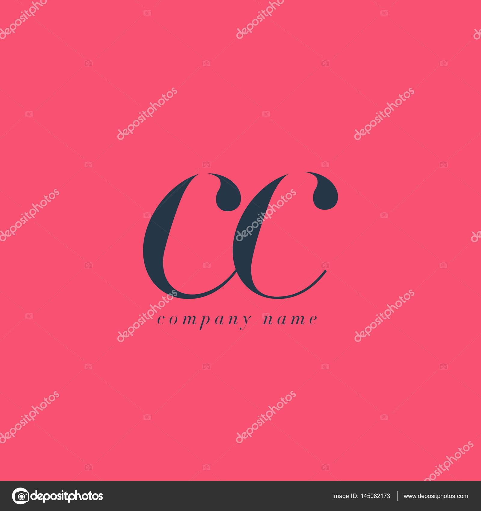 Vecteur De Logo Modele Carte Visite Lettres Communes CC Italique Par Brainbistro