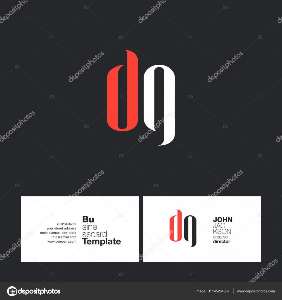 DG Letras Logo tarjetas — Archivo Imágenes Vectoriales © brainbistro ...