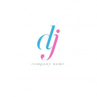 DJ Letters Logo template