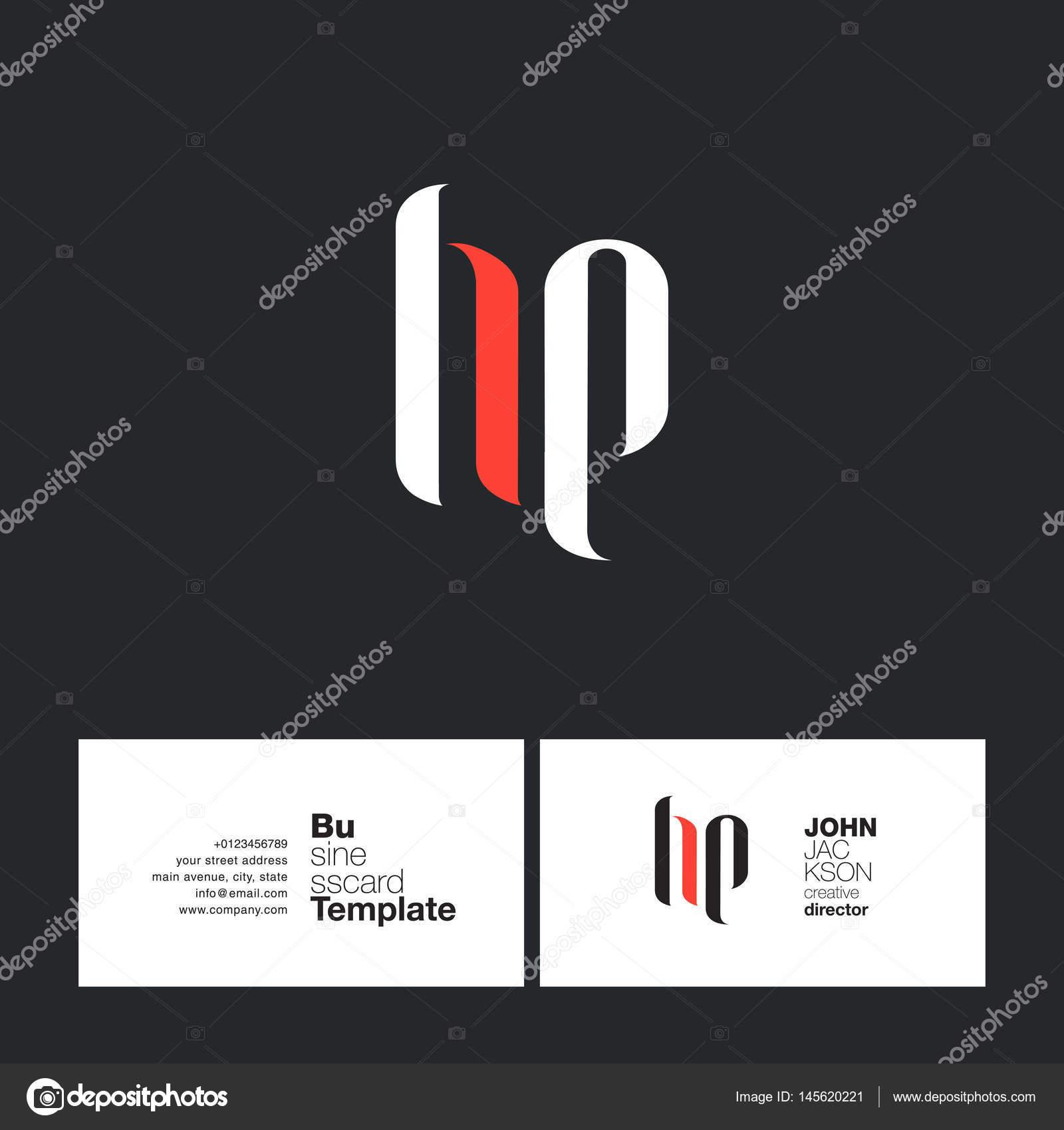 Hp Letters Logo Business Card Stock Vector Brainbistro 145620221