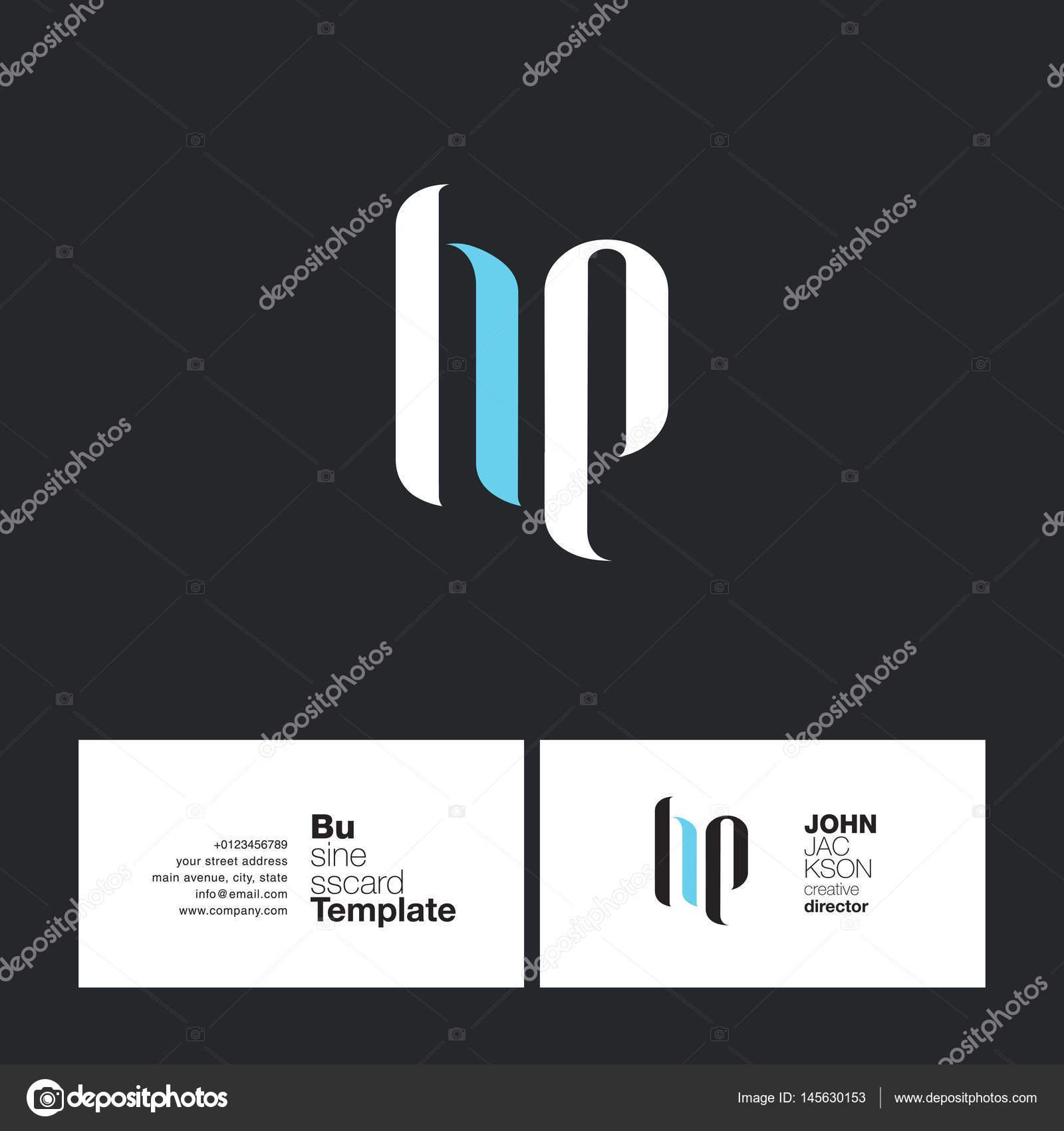 HP Letters Logo Business Card — Stock Vector © brainbistro #145630153