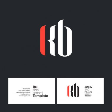 KB Letters Logo Business Card