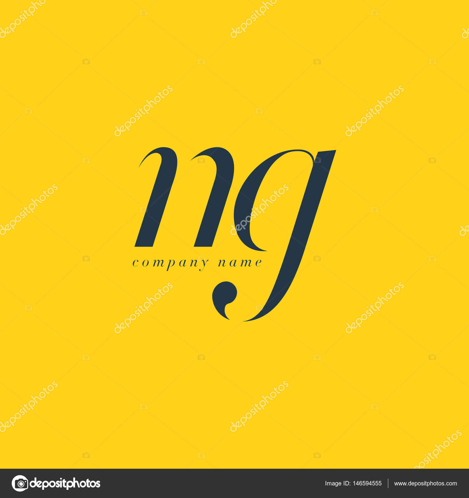 NG Letters Logo template — Stock Vector © brainbistro #146594555