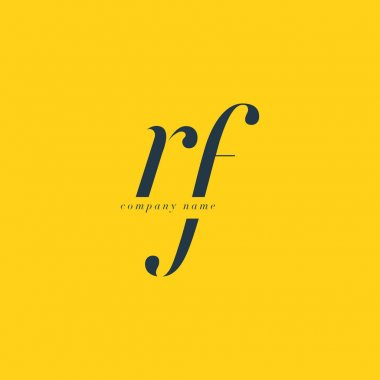RF Letters Logo template