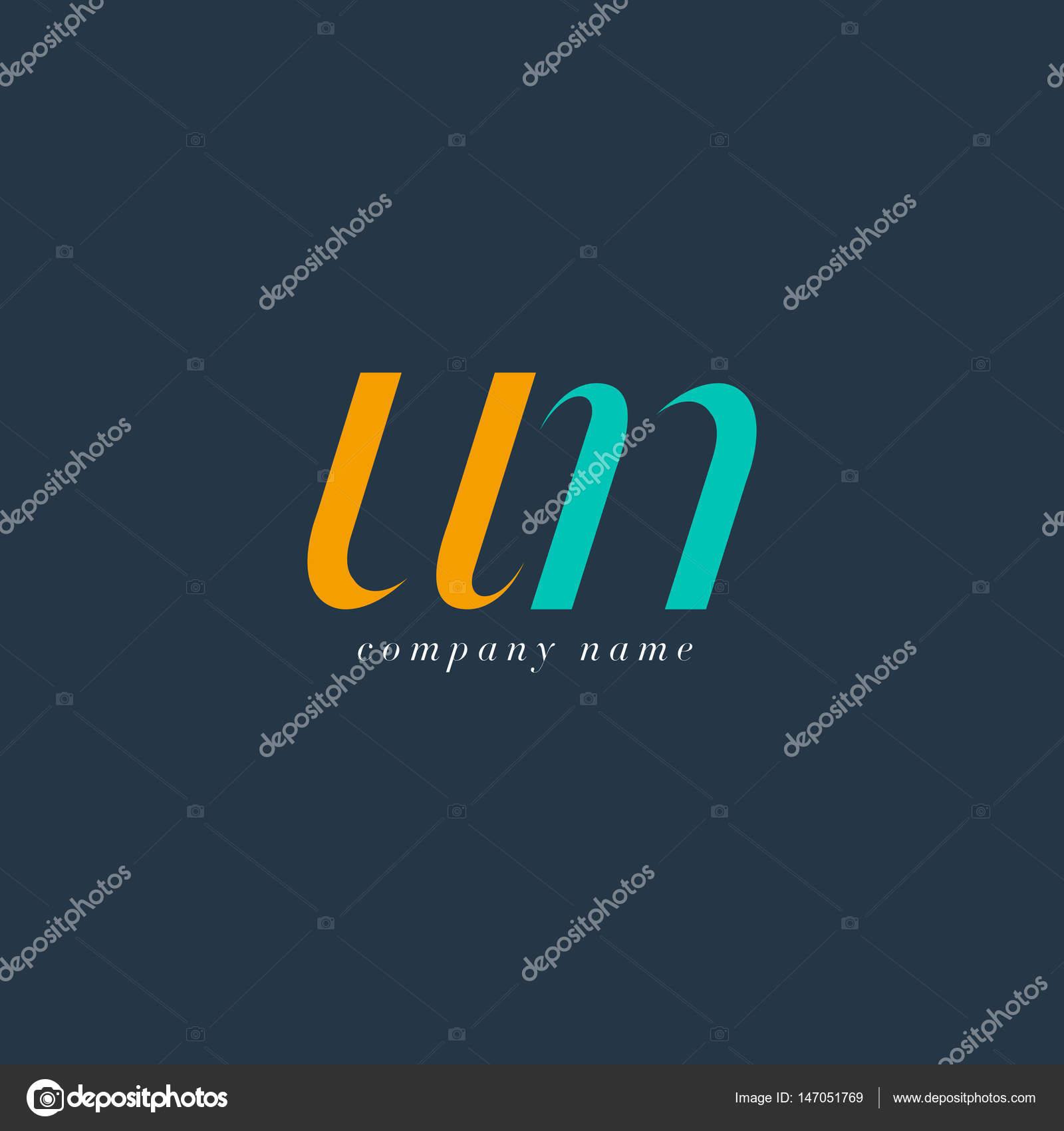 Vecteur De Logo Modle Carte Visite Lettres Communes ONU Italique Par Brainbistro