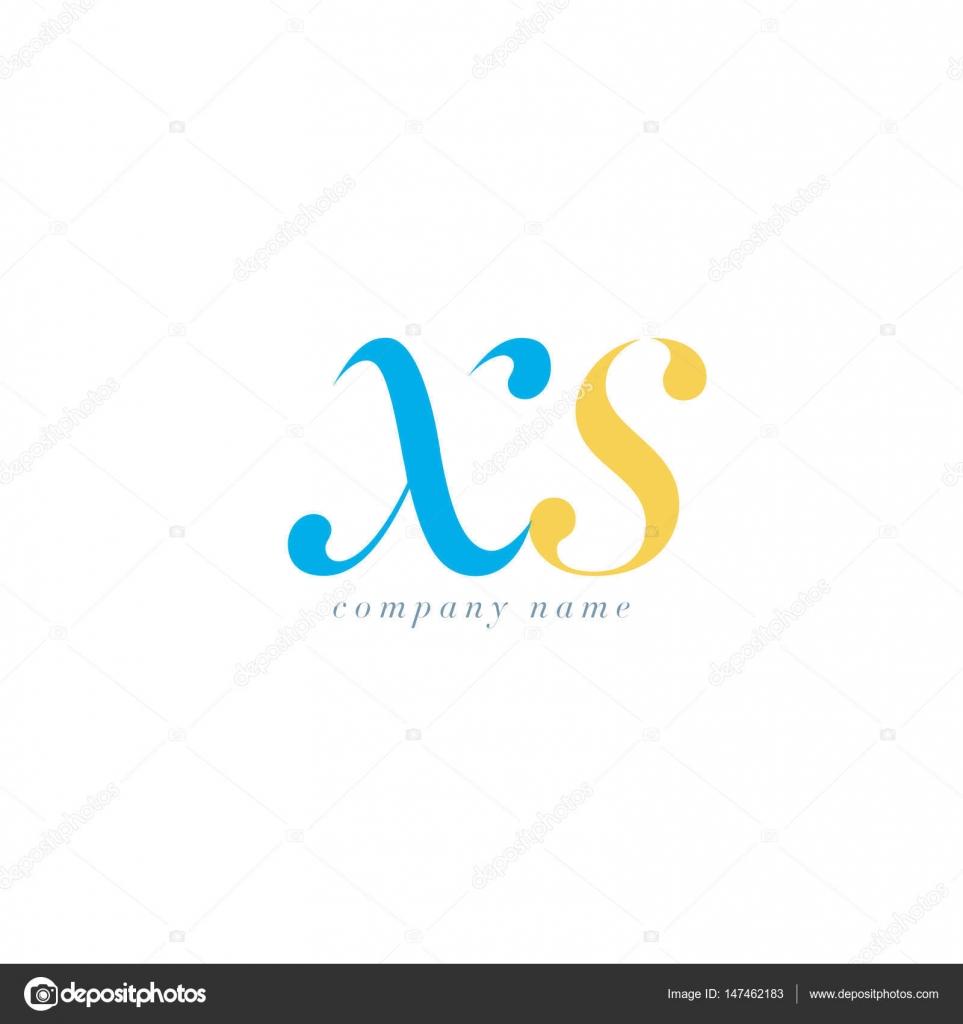 Xs Cursiva Letra Conjunto Insignia Archivo Imagenes Vectoriales