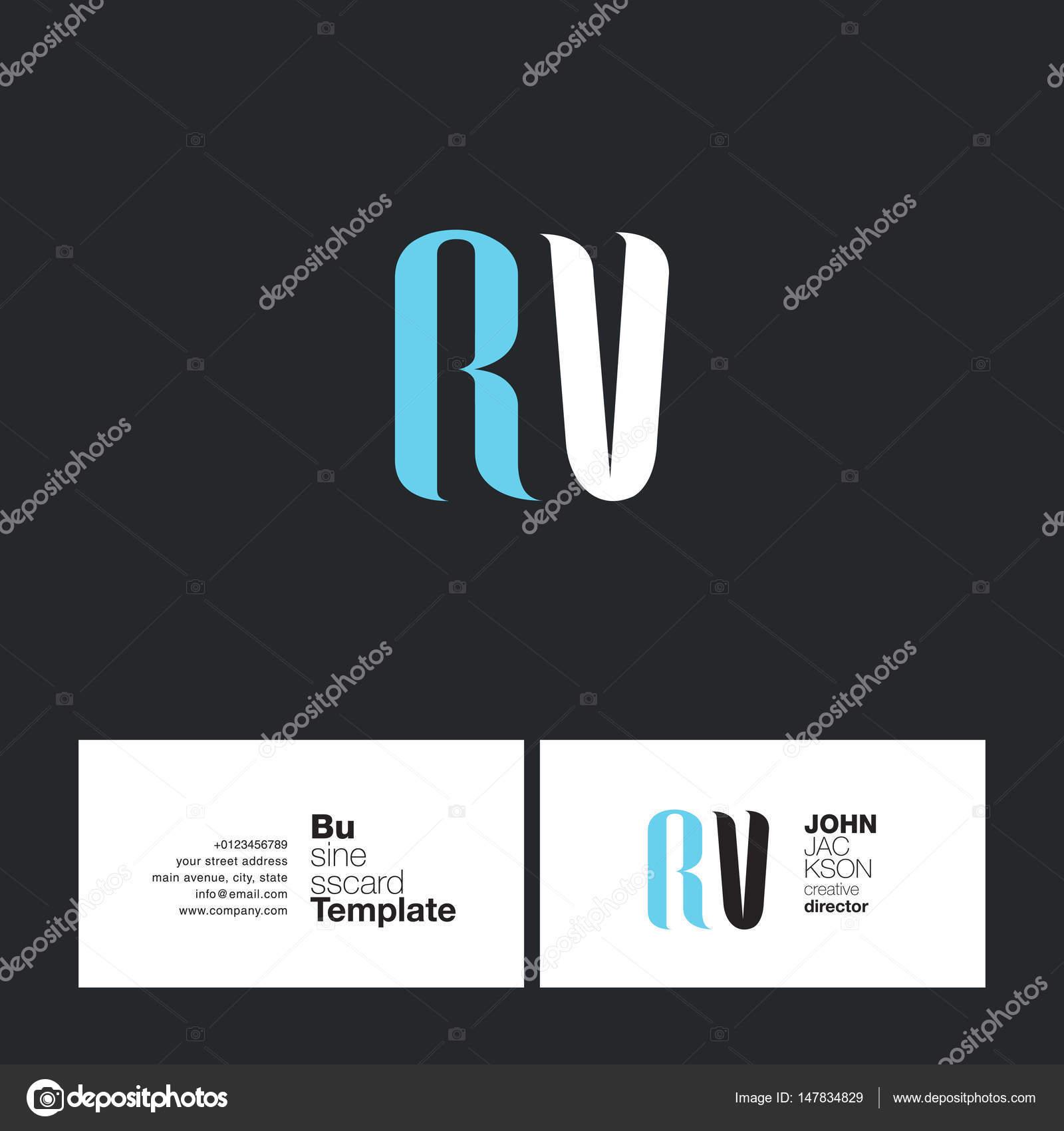 Rv letters logo business card stock vector brainbistro 147834829 rv letters logo business card stock vector colourmoves