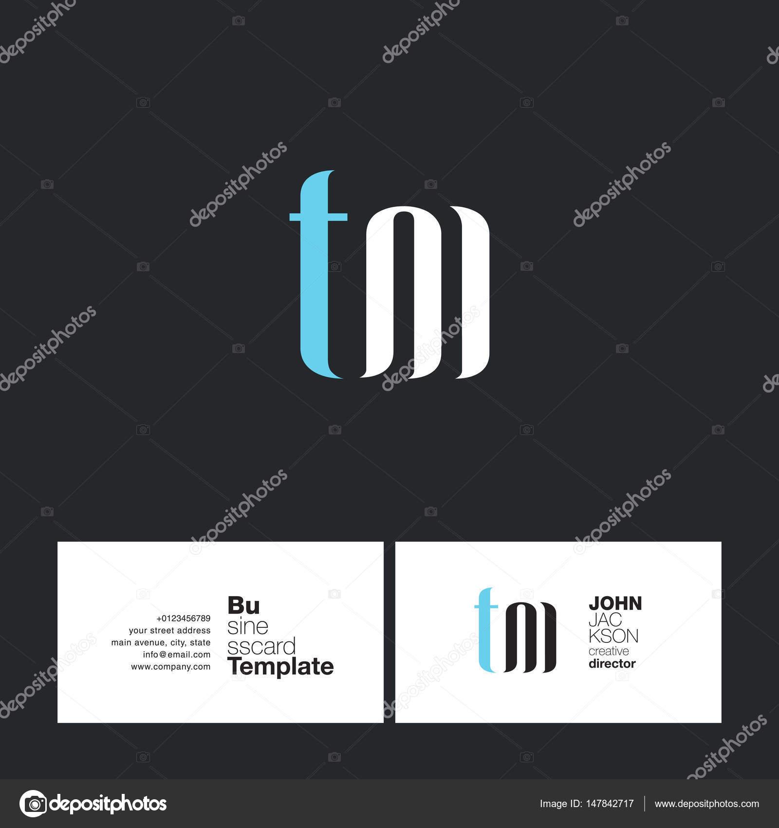 Carte De Visite Pour Le Logo TM Lettres Image Vectorielle