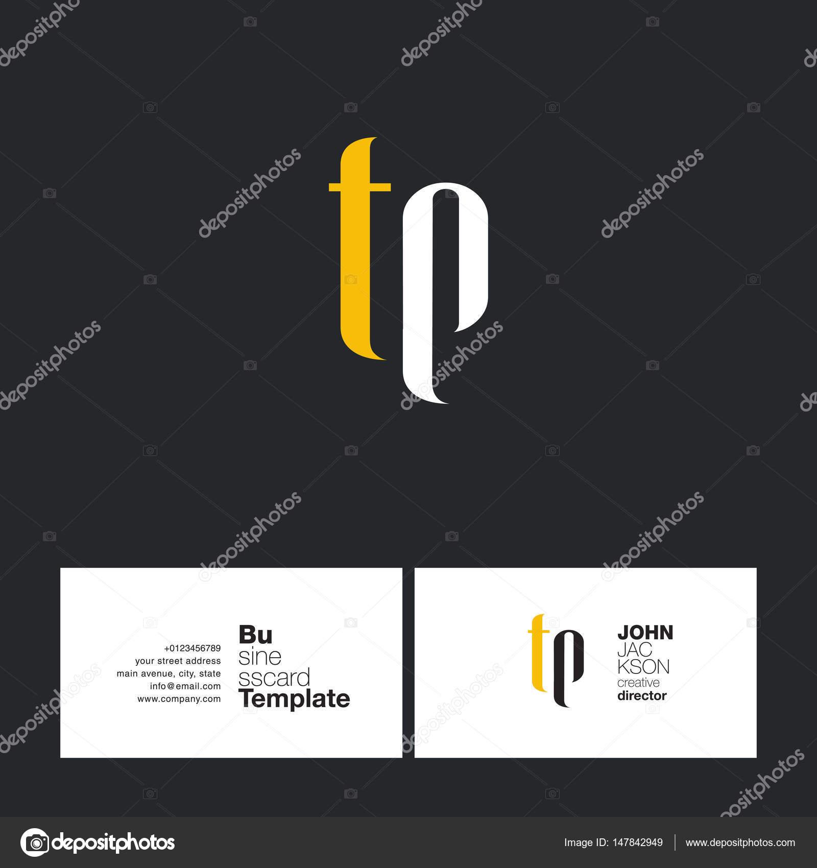 Joint De TP Lettres Logo Avec Business Card Template Vecteur Par