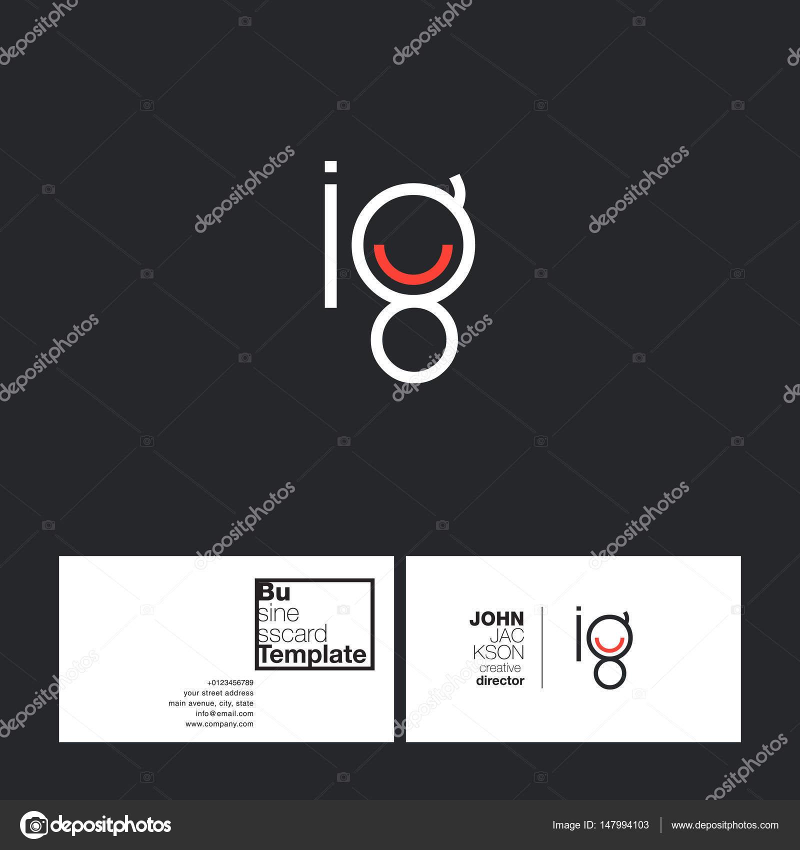 Round Letter Logo Ig Stock Vector C Brainbistro 147994103