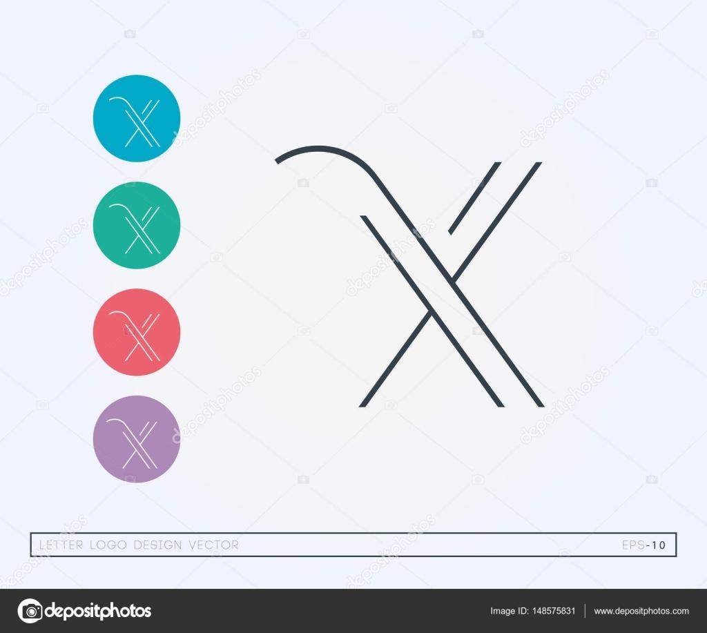 X plantilla de logotipo de la letra — Archivo Imágenes Vectoriales ...