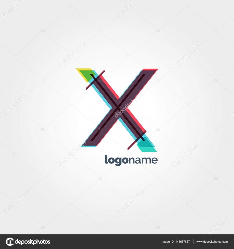X plantilla de logotipo de la letra — Vector de stock © brainbistro ...