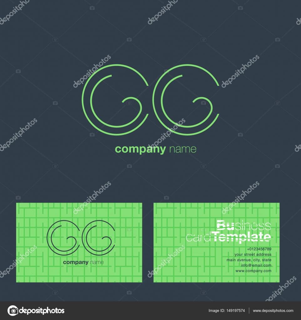 Lettre De La Ligne Mince Cc Logo Dentreprise Avec Carte Visite Modele Vector Illustration Identite Visuelle Vecteur Par Brainbistro