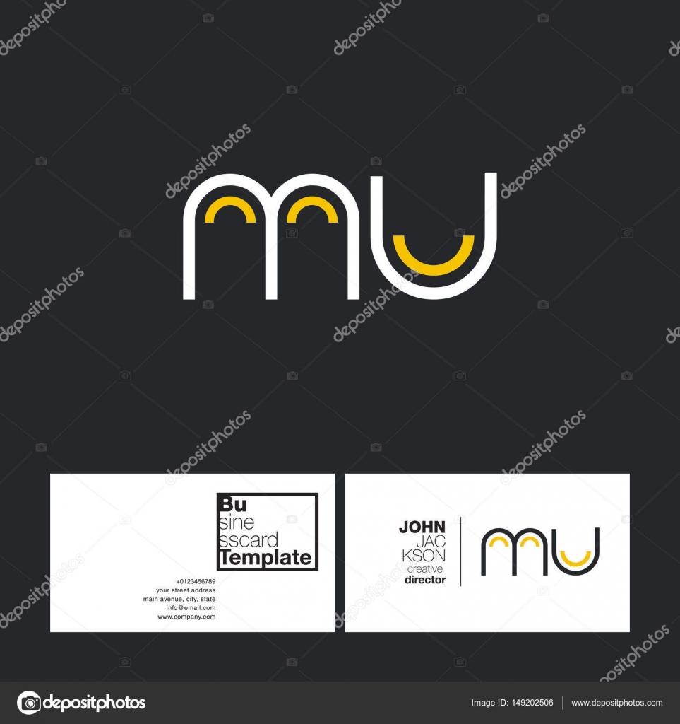 round letters logo mu stock vector brainbistro 149202506