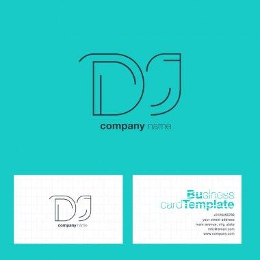 Line letter logo DJ