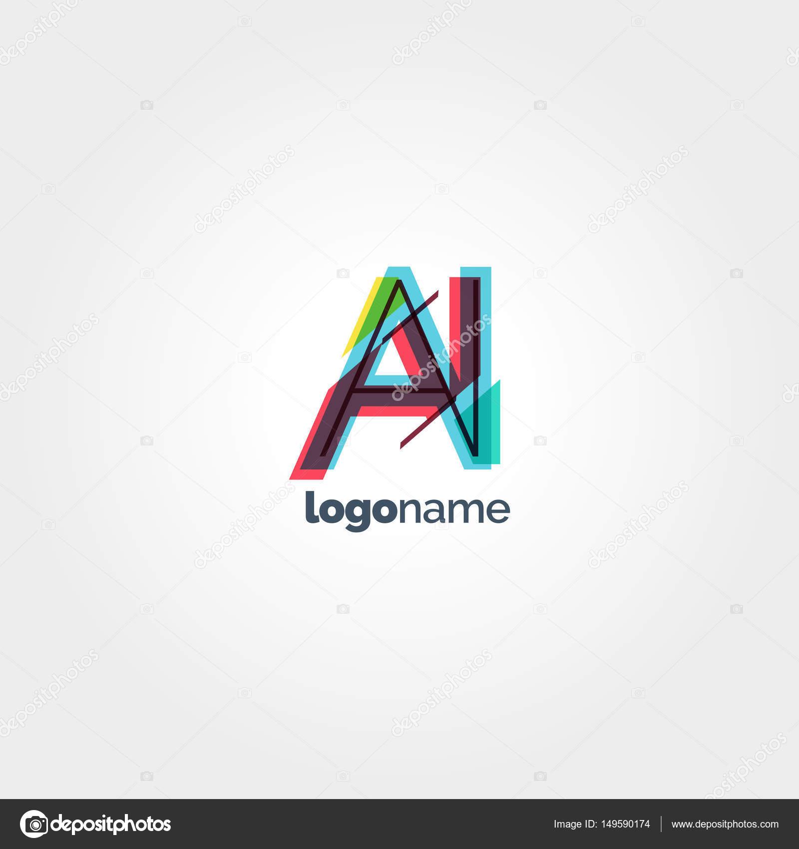 ai の文字ロゴのテンプレート ストックベクター brainbistro 149590174