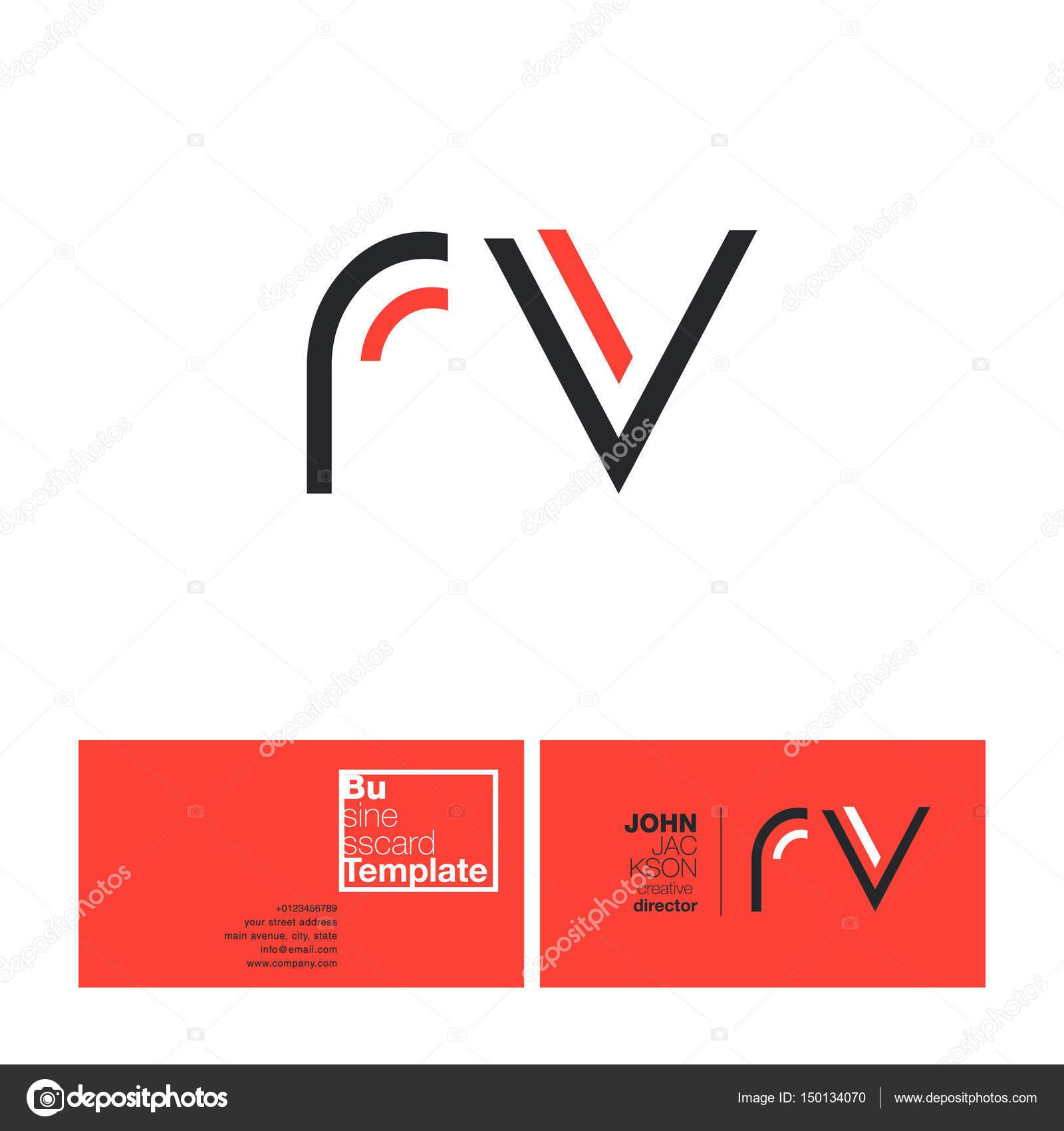 Rv letters logo business card stock vector brainbistro 150134070 rv letters logo business card stock vector colourmoves