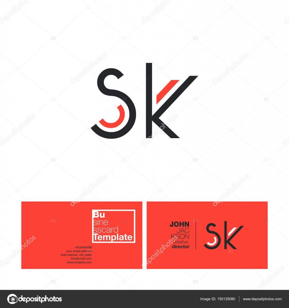 Sk letters logo business card vetores de stock brainbistro sk letters logo business card vetores de stock reheart Choice Image