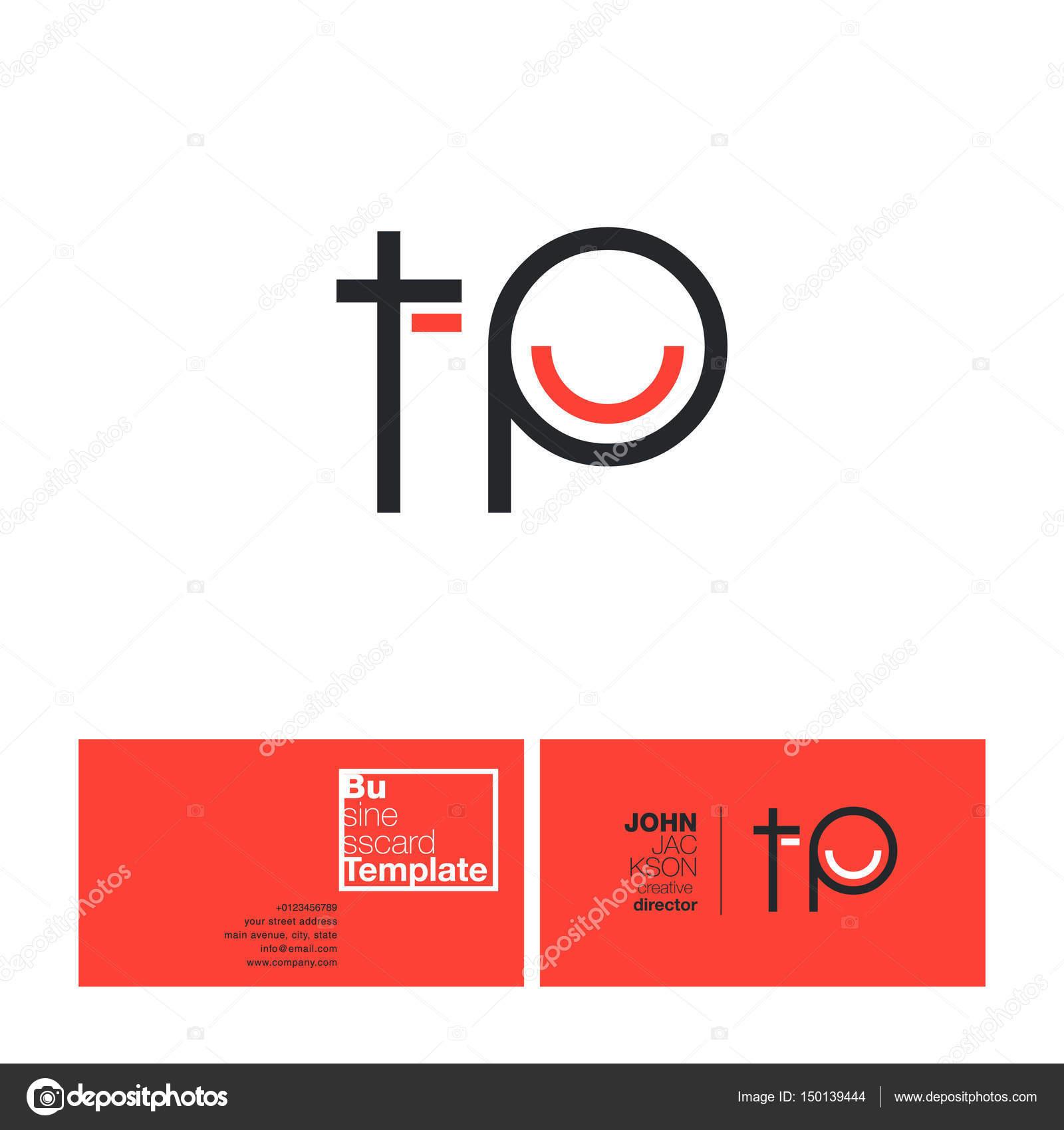 TP Lettres Logo Carte De Visite Illustration Stock