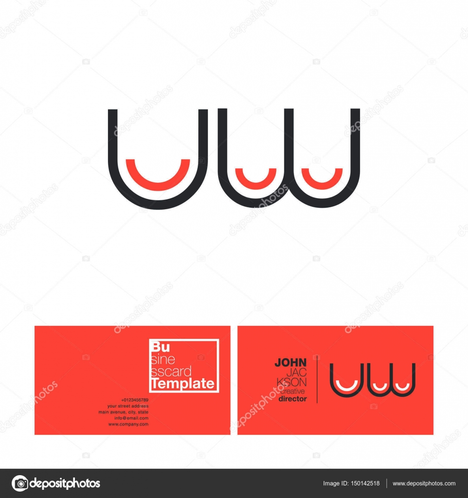 UW Letters Logo Business Card — Stock Vector © brainbistro #150142518