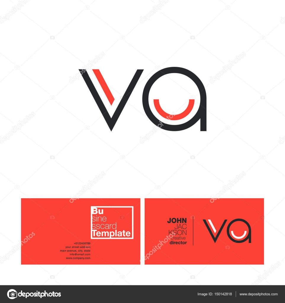 Va letters logo business card stock vector brainbistro 150142818 va letters logo business card stock vector colourmoves