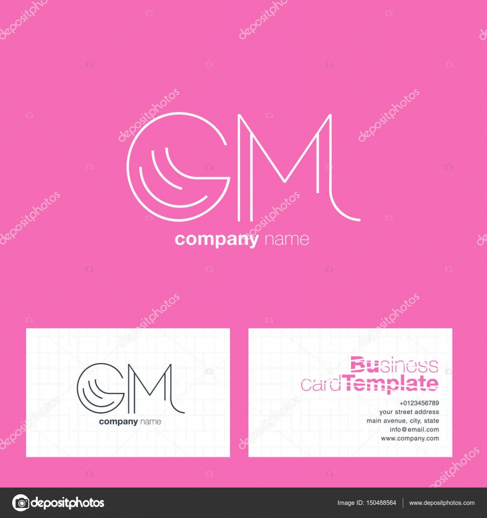 GM Letters Logo Business Card — Stock Vector © brainbistro #150488564
