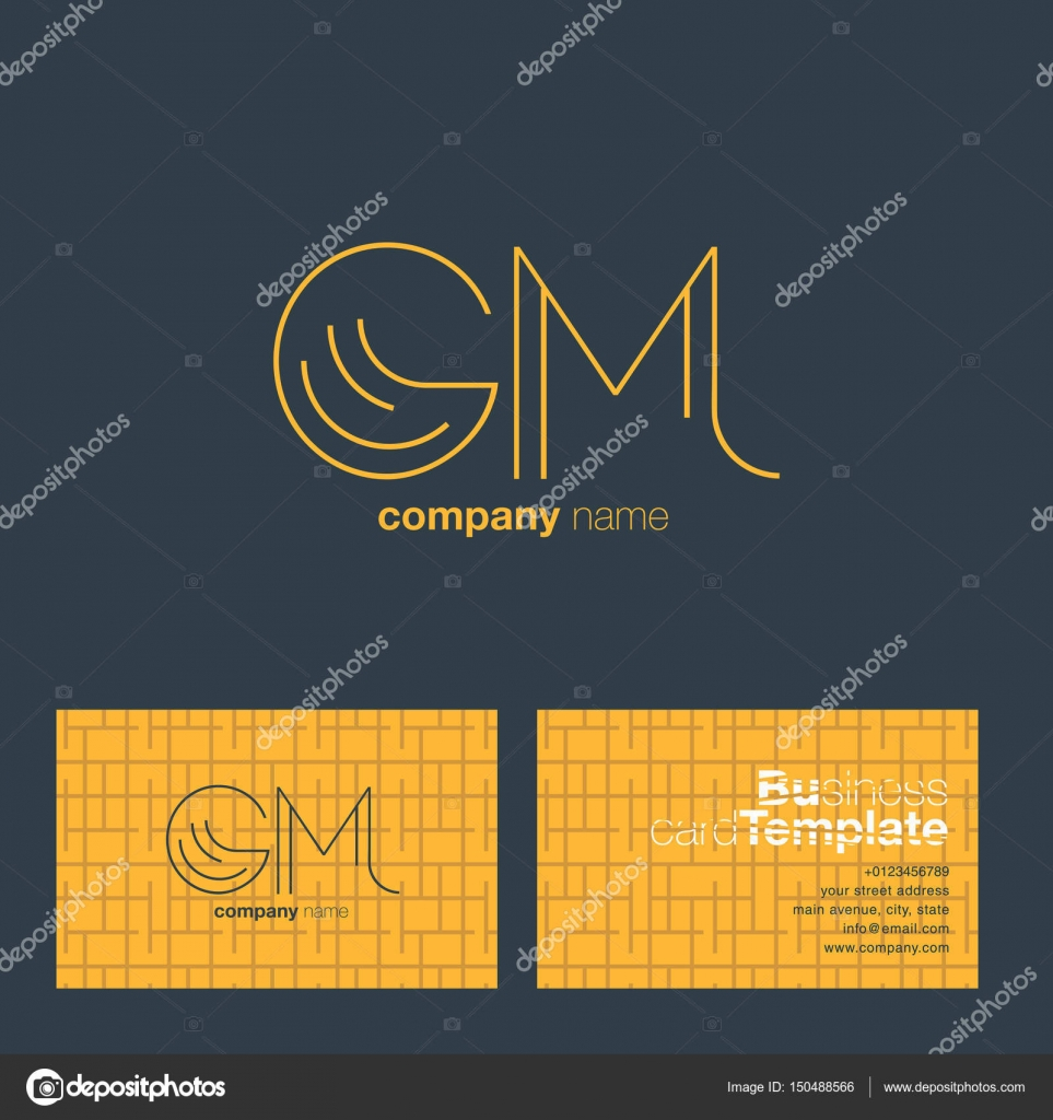 Gm letters logo business card stock vector brainbistro 150488566 gm letters logo business card stock vector colourmoves