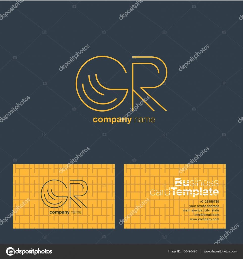 Carte De Visite Pour Le Logo Gr Lettres Image Vectorielle