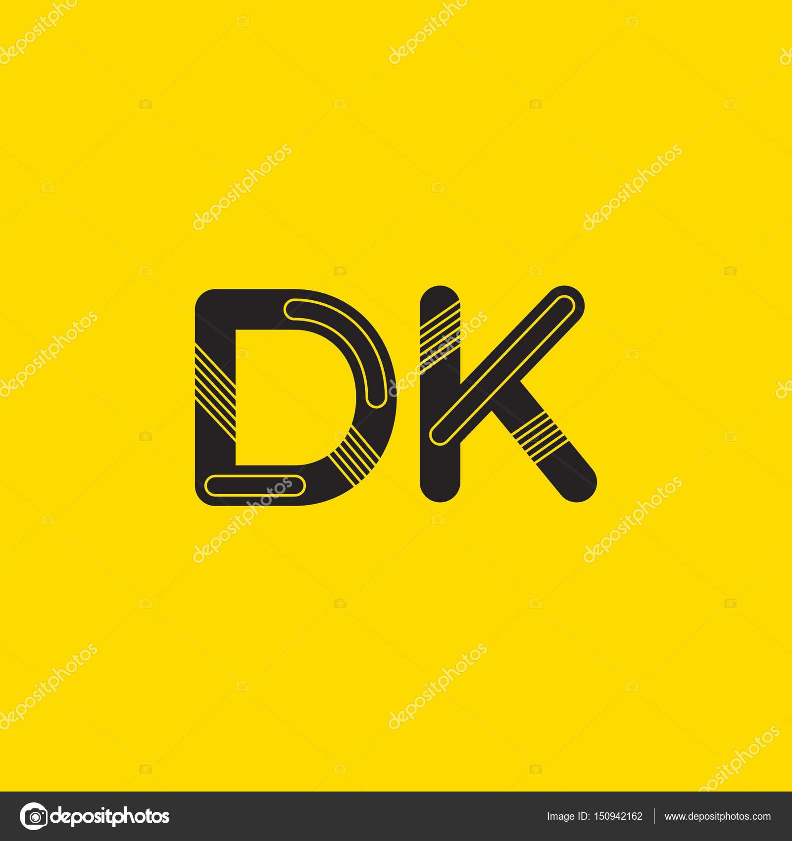 dk connected letters logo stock vector brainbistro 150942162