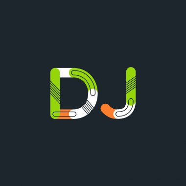 DJ connected letters logo