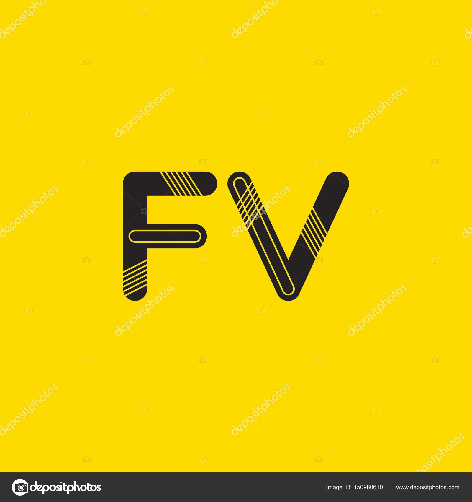 logo de lettres fv connecté image vectorielle brainbistro 150980610
