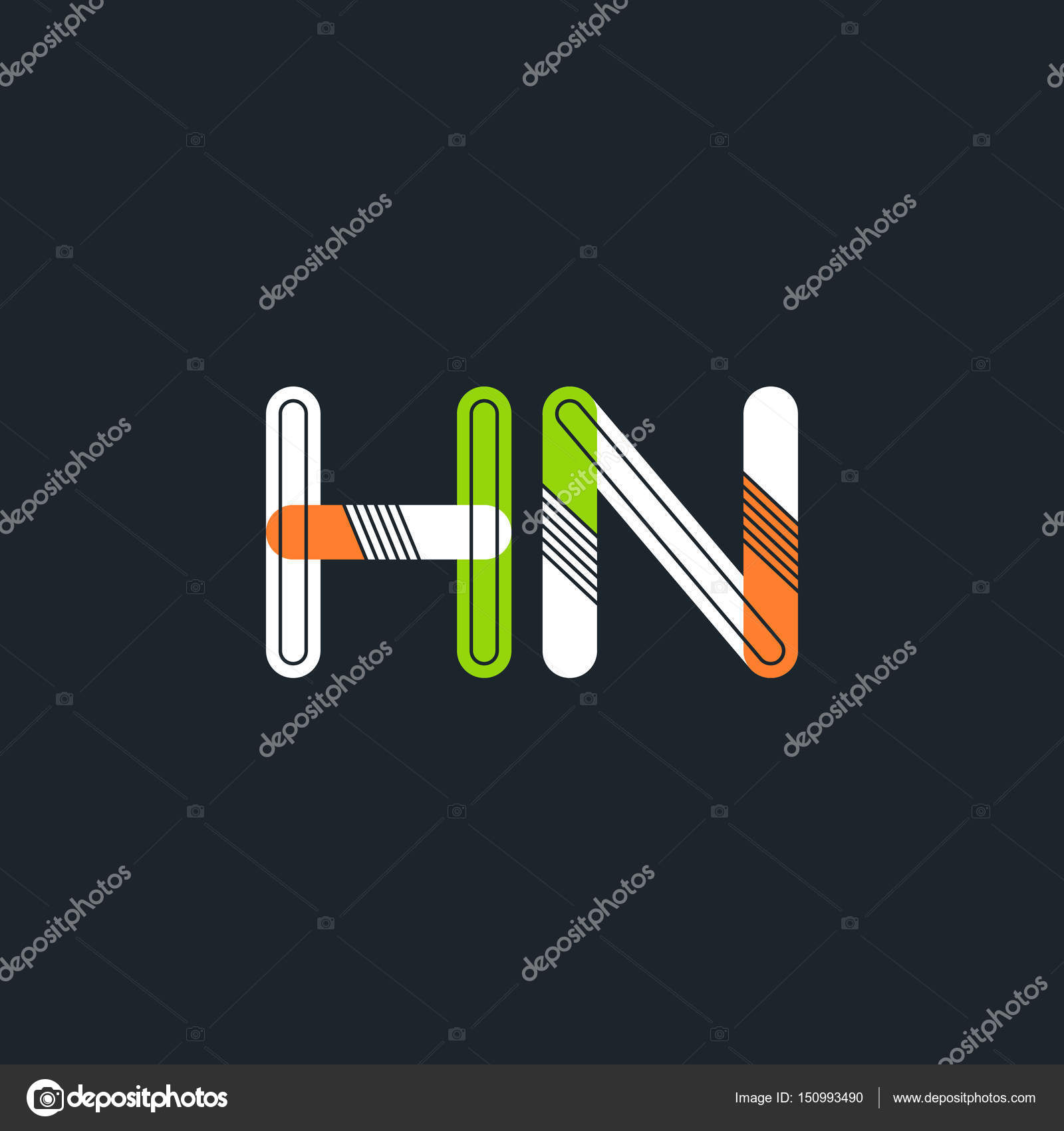 HN connected letters logo — St...