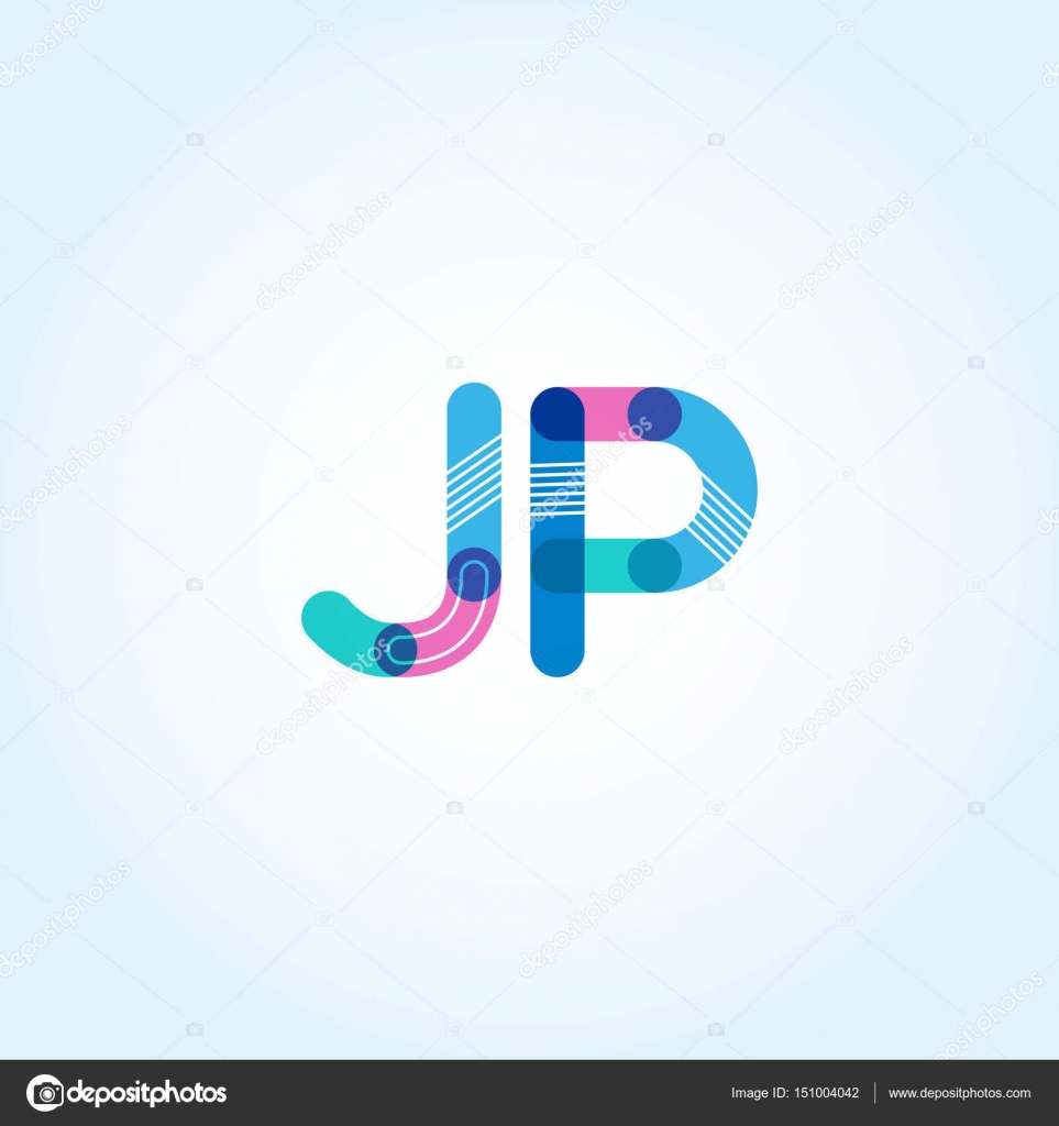 jp connected letters logo stock vector brainbistro 151004042