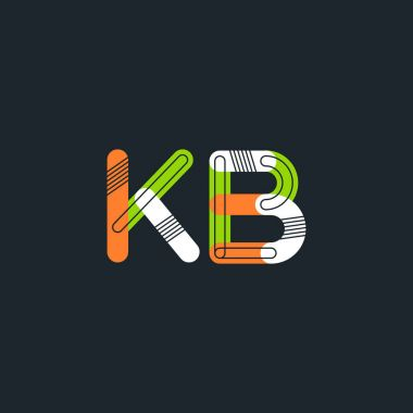 Kb connected letters logo