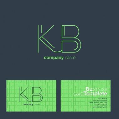 Kb line letters logo