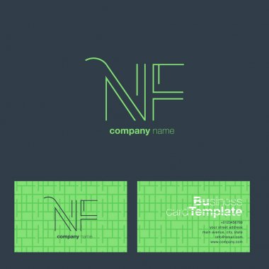 NF Letters Logo Business Card