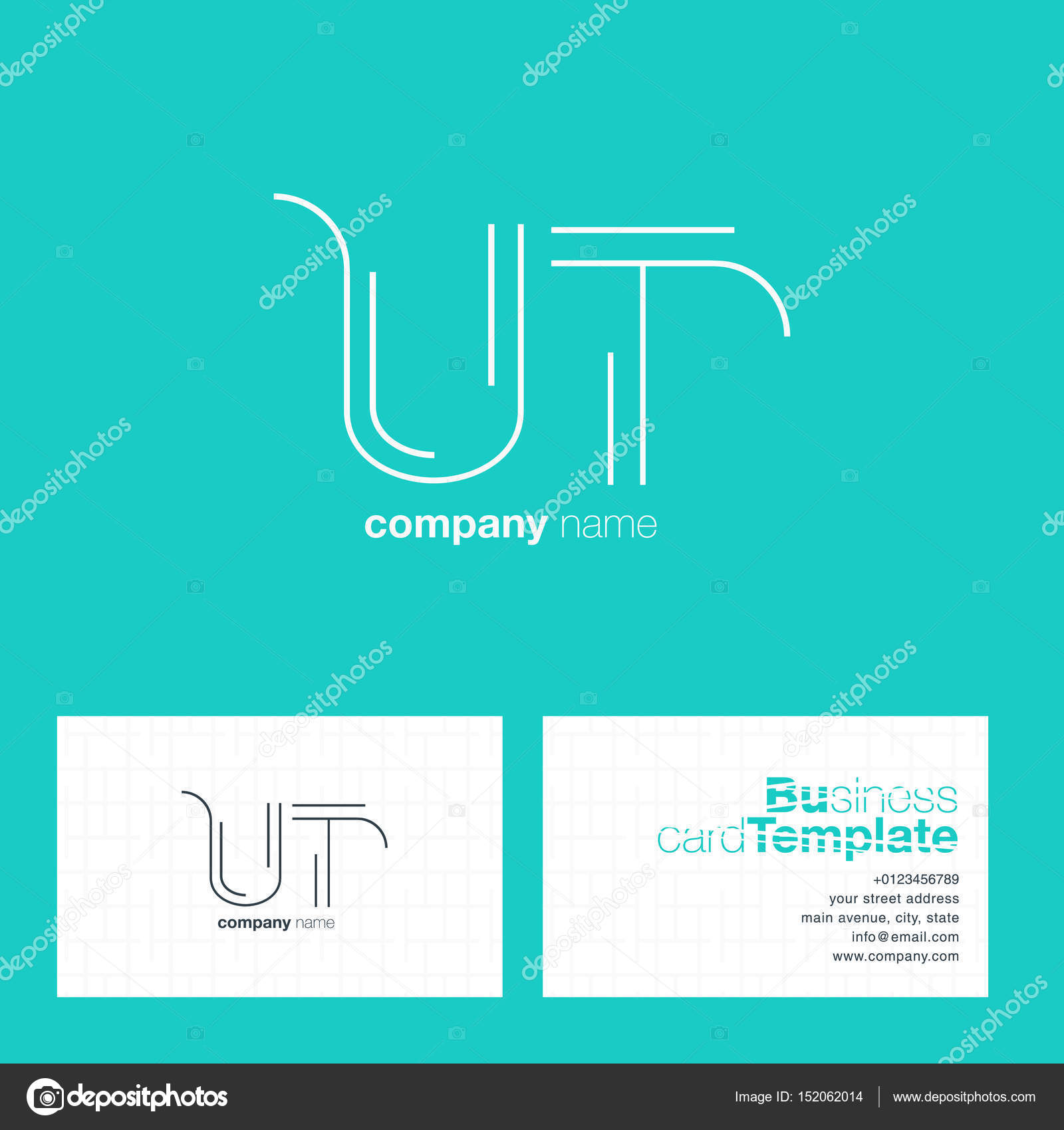Ut letters logo business card stock vector brainbistro 152062014 ut letters logo business card stock vector colourmoves