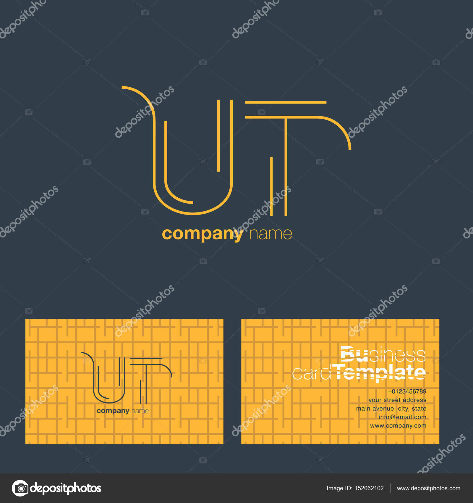 Ut letters logo business card stock vector brainbistro 152062102 ut letters logo business card stock vector colourmoves