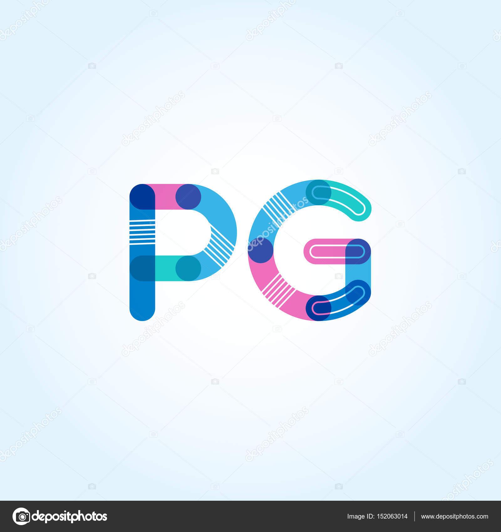 Pg Connected Letters Logo Stock Vector Brainbistro 152063014