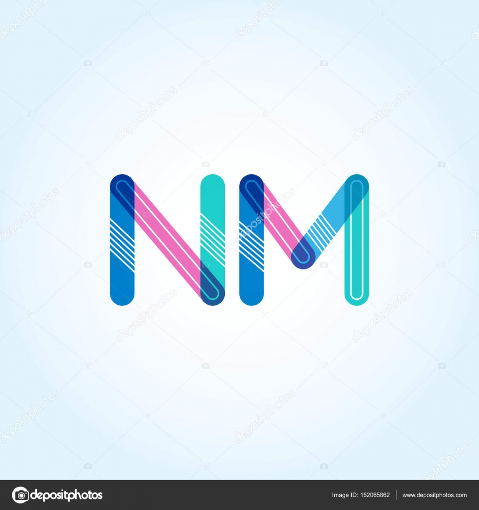 ᐈ Nm Letter Logo Stock Vectors Royalty Free Nm Illustrations Download On Depositphotos