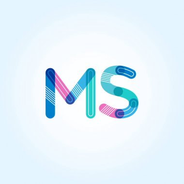 MS connected letters logo