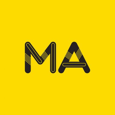 MA connected letters logo