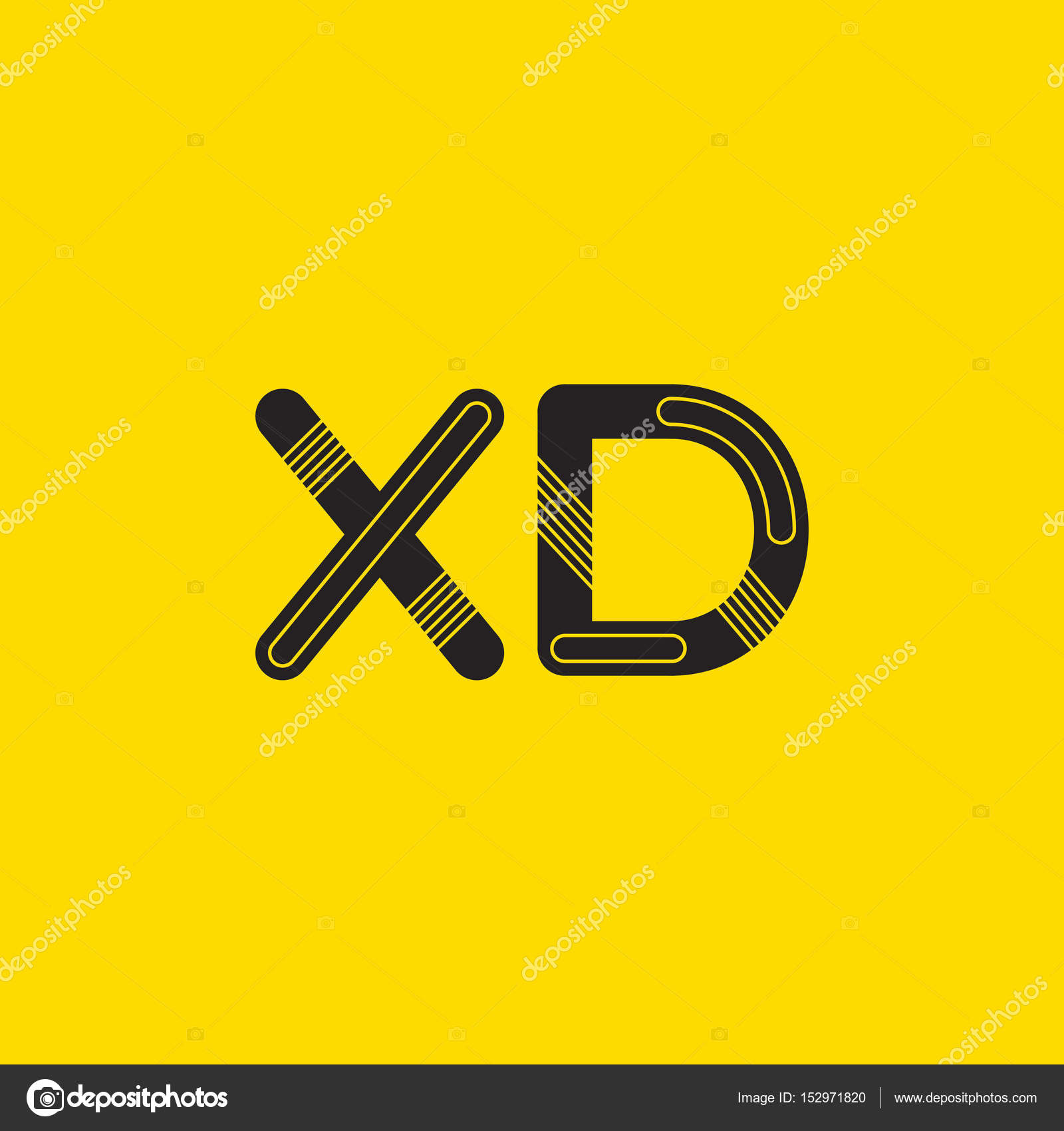 xd connected letters logo stock vector brainbistro 152971820