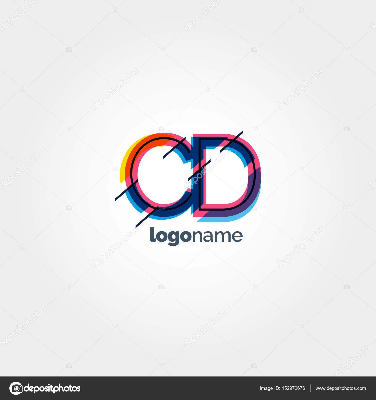 Logotipo de CD Letras multicolor — Vector de stock © brainbistro ...