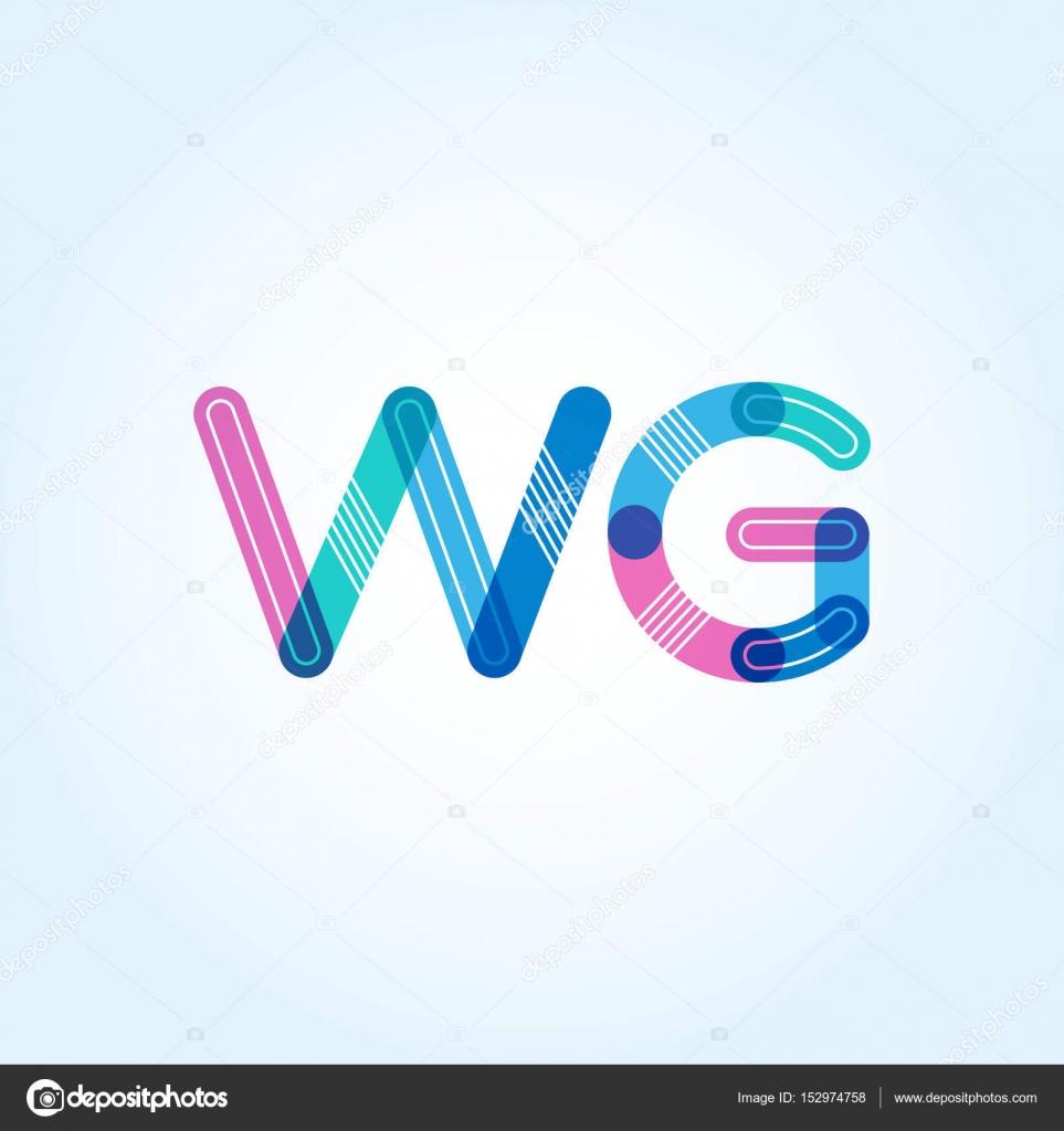 WG Letras Logo Tarjetas U2014 Archivo Imágenes Vectoriales