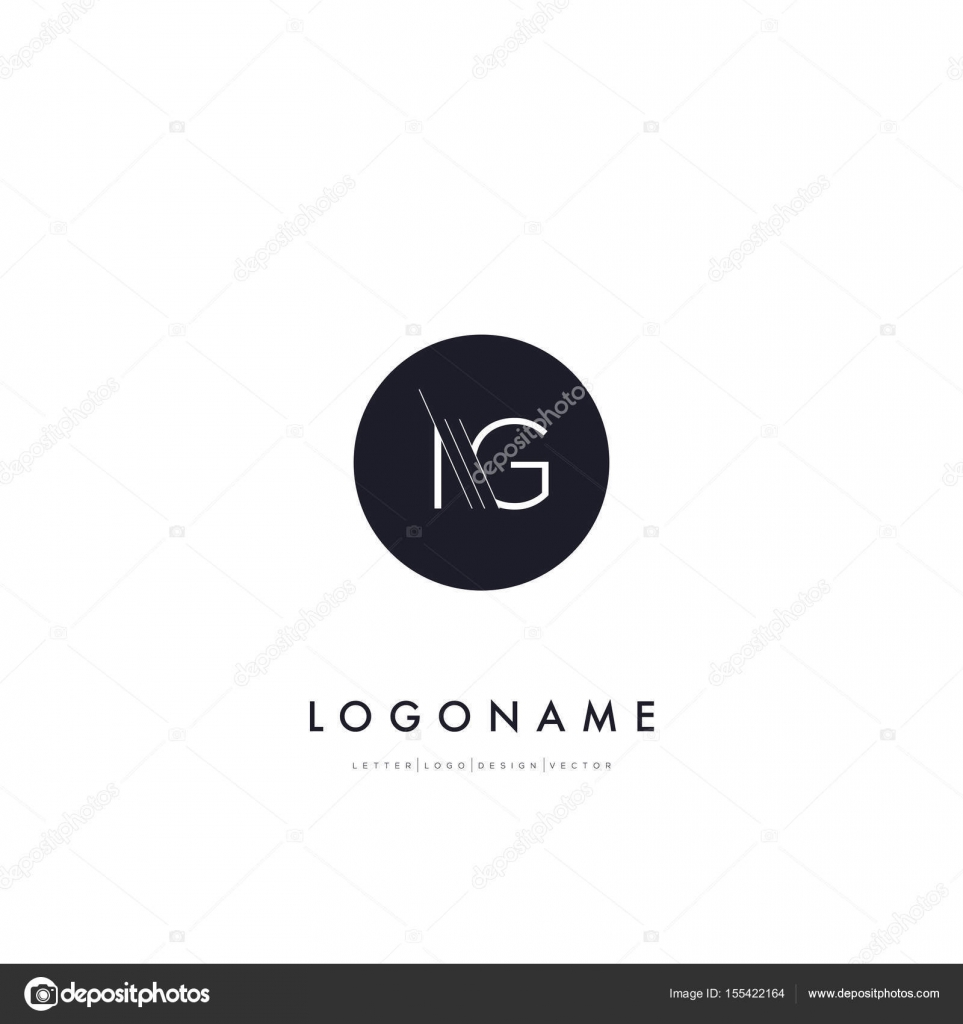 Line Cut Letters Logo Ig Stock Vector C Brainbistro 155422164