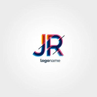 JR multicolour letters logo